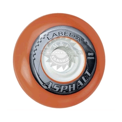 LABEDA Gripper Asphalt Inline Rollen Hockey 4er-Set (Outdoor)