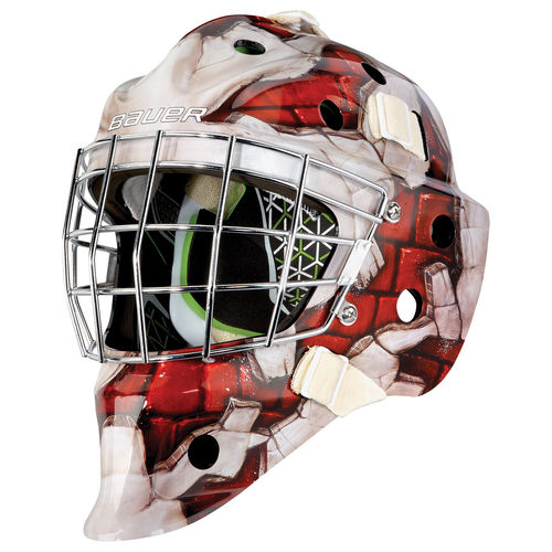 BAUER TORWART MASKE NME 4 WALL RED - YTH