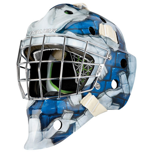 BAUER TORWART MASKE NME 4 WALL BLUE - JR.